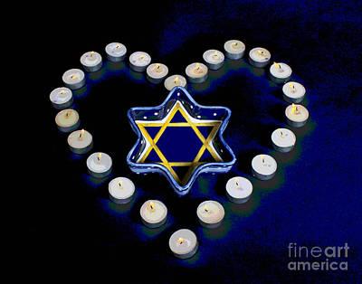 Photograph - Jewish Heart by Larry Oskin