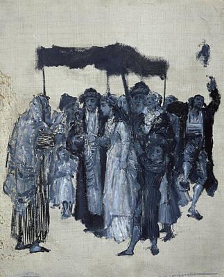 Judaism Painting - Jewish Huppa 1876 by Maurycy Gottlieb