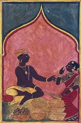 Jewish Merchant, 18th C. Hindu Art Art Print by Everett