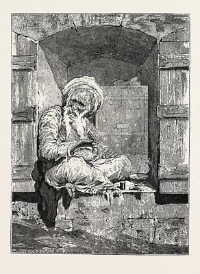 Jewish Art Drawing - Jewish Money-changer by Litz Collection