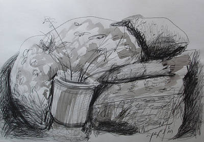 Mother Land Drawing - Jewish Mother In Mourning by Esther Newman-Cohen