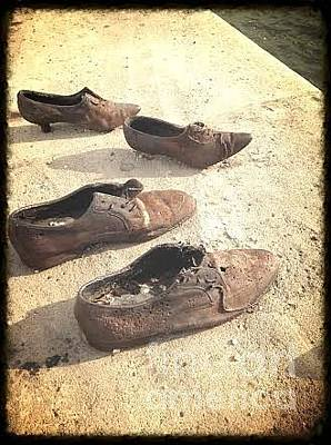 Photograph - Jewish Shoe Memorial 1944 by John Potts