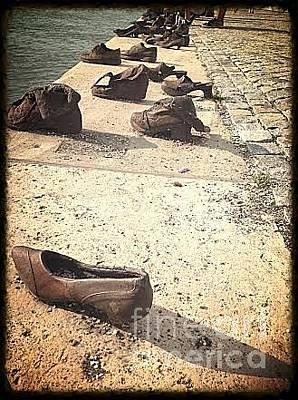 Photograph - Jewish Shoe Memorial by John Potts