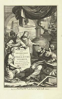 Jewish Symbol Drawing - Jewish Symbols And Figures From The Bible by Artokoloro