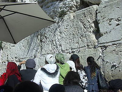 Photograph - Jewish Women Praying At The Wailing Wall by Esther Newman-Cohen