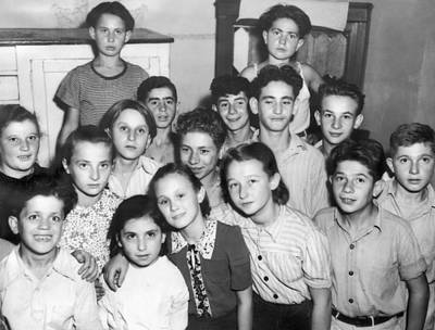 Hitler Photograph - Jewish Wwii Orphans In Germany by Underwood Archives
