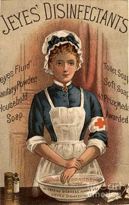 Jeyes 1890s Uk Nurses  Disinfectant Art Print by The Advertising Archives