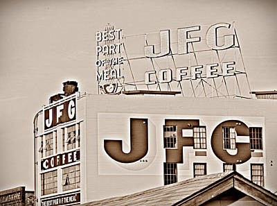 Photograph - Jfg Coffee Sign by Sharon Popek