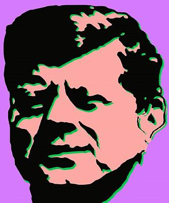 Painting - John F Kennedy - Jfk Pink Purple Pop Art by Peter Potter