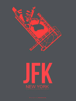 Town Mixed Media - Jfk Airport Poster 2 by Naxart Studio