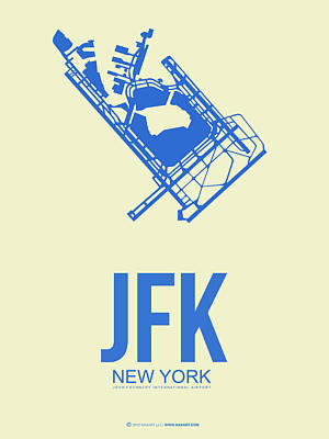 New York Mixed Media - Jfk Airport Poster 3 by Naxart Studio