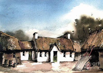 Painting - F 823 Wexford Jfk Ancestral Homestead Ireland by Val Byrne