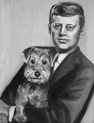 Painting - Jfk And Charlie by Martha Suhocke