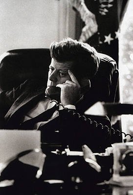 White House Photograph - John F. Kennedy By Arthur Rickerby by Retro Images Archive