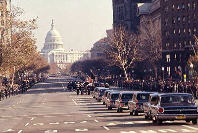 Jfk Funeral  Art Print by Retro Images Archive