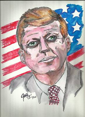 Painting - JFK by The GYPSY And DEBBIE