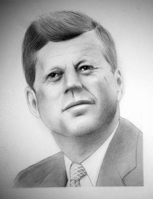 Camelot Drawing - JFK by Kendrick Roy
