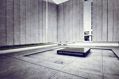 Jfk Plaza Photograph - Jfk Memorial by Joan Carroll