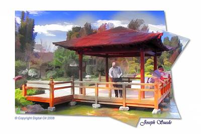 Photograph - Jg-0009 Koi-pavilion by Digital Oil