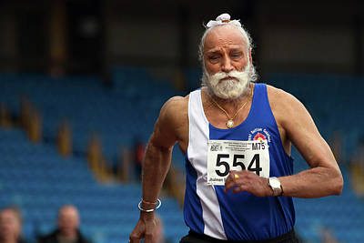 White Beard Photograph - Jhalman Singh by Alex Rotas