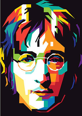 Musicians Royalty Free Images - John Lennon Royalty-Free Image by Ahmad Nusyirwan