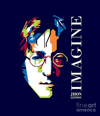 Jhon Digital Art - Jhon Lennon Imagine by Gumilar Pratama