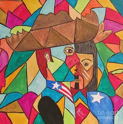 Jibaros Painting - Jibaro Origin by Julie Crisan