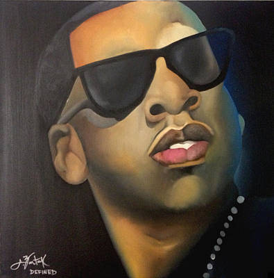 Jay Z Wall Art - Painting - Jigga by Chelsea VanHook