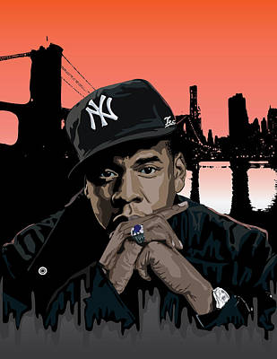 Jay Z Digital Art - Jigga by Lawrence Carmichael