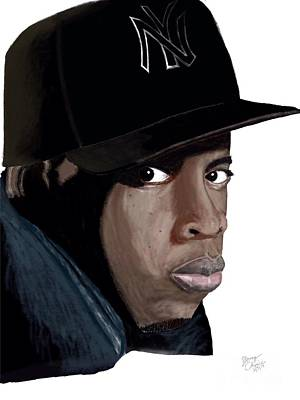 Jay Z Drawing - Jigga by Young CHOICE