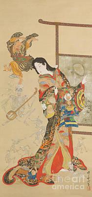 Source Painting - Jigoku Dayu by Kawanabe Kyosai