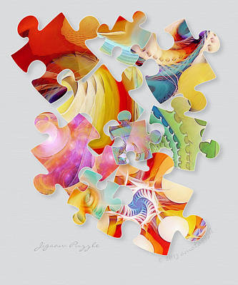 Jigsaw Puzzle Art Print by Gayle Odsather