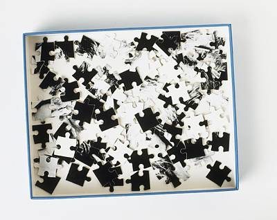 Jigsaw Puzzle Pieces Art Print