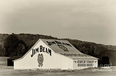 Black Commerce Photograph - Jim Beam - D008291-bw by Daniel Dempster