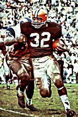Painting - Jim Brown by Florian Rodarte