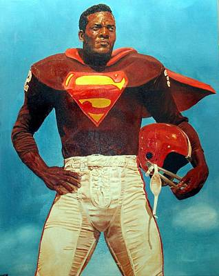 Painting - Jim Brown by Michael Swanson