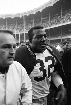 Wall Art - Photograph - Jim Brown Post Game  by Retro Images Archive