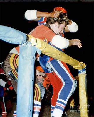 Photograph - Jim Fitzpatrick Vs Jo Jo Stafford In Old School Roller Derby  by Jim Fitzpatrick