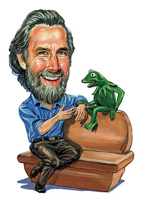 Puppet Painting - Jim Henson by Art