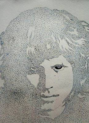Drawing - Jim Morrison 2. By Richard Brooks. by Richard Brooks