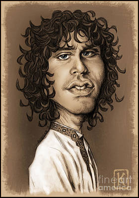 Digital Art Digital Art Drawing - Jim Morrison by Andre Koekemoer
