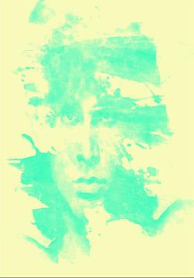 Art Print featuring the digital art Jim Morrison  by Brian Reaves