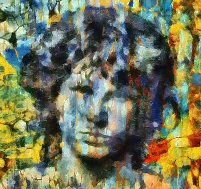 Strange Days Painting - Jim Morrison by Dan Sproul