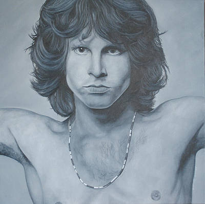 The Doors Painting - Jim Morrison by David Dunne