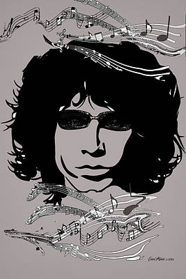 Digital Art - Jim Morrison by EricaMaxine  Price