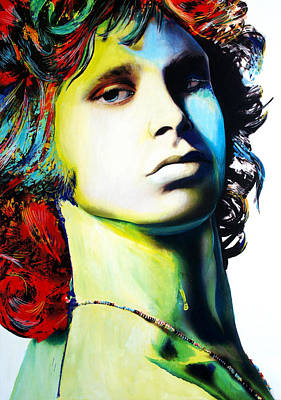 Jim Morrison Art Print by Isabel Salvador
