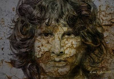 Digital Art - Jim Morrison by Louis Ferreira