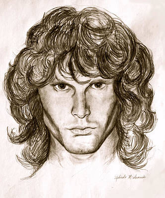 Jim Morrison Art Print by Melinda Saminski
