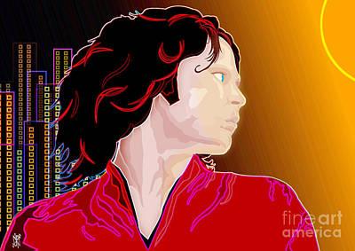 Dr. Teeth Digital Art - Jim Morrison by Neil Finnemore