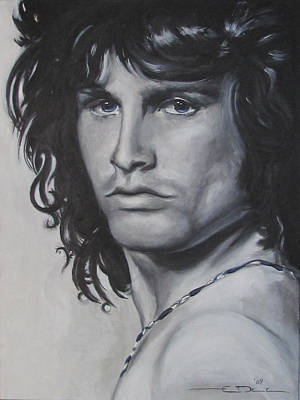 Tribute Drawing - Jim Morrison - Notes by Eric Dee